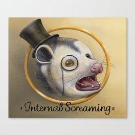 Awkward Opossum Canvas Print