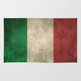 Old and Worn Distressed Vintage Flag of Italy Rug