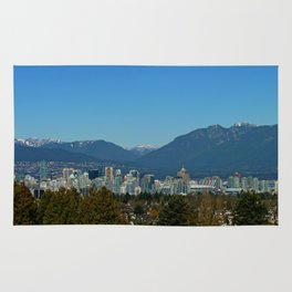 Vancouver and the North Shore Mountains Rug
