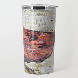Cardinal / Red Bird Collage by C.E. White Travel Mug