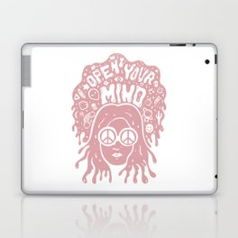Open Your Mind in pink Laptop & iPad Skin