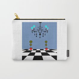 A Chandler with Checkered Tile and Topiaries Carry-All Pouch