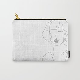 Abstract Beauty Outline Carry-All Pouch