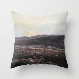 Painted Mountains Throw Pillow