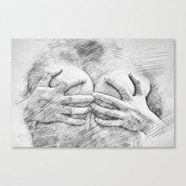 Covering Up Canvas Print