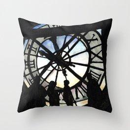 Musée d'Orsay Clock Throw Pillow