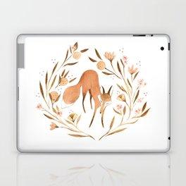 Orange Blossom Fox Laptop & iPad Skin