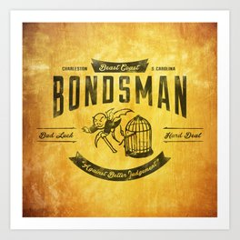 Beast Coast Bondsman (BLACK) Art Print