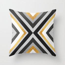 Abstract Golden Art III Throw Pillow