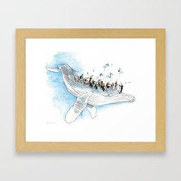 Underwater Symphony Framed Art Print