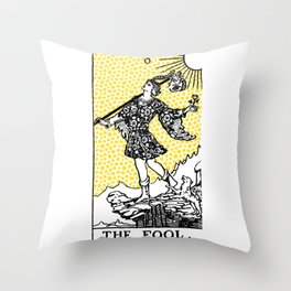 Tarot - The Fool Throw Pillow