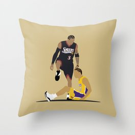 Step Over Lue Throw Pillow