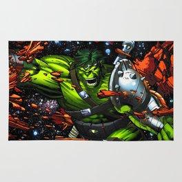 green rampage Rug