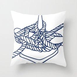 Knotical (WHITE) Throw Pillow