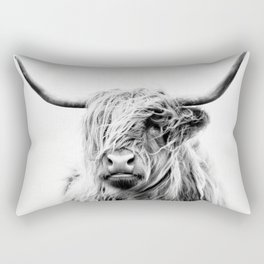 portrait of a highland cow - vertical orientation Rectangular Pillow