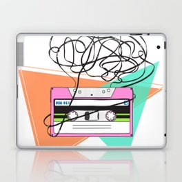90s and 80s messy meme of cassette tape Laptop & iPad Skin