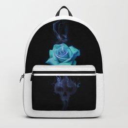 Pale Blue Rose - Smoke skull Backpack