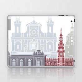 Lublin skyline poster Laptop & iPad Skin