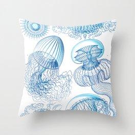 Jellyfish - Ocean Art Throw Pillow