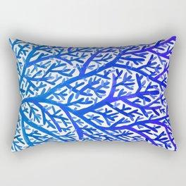 Fan Coral – Blue Ombré Rectangular Pillow