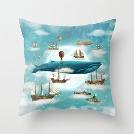 Ocean Meets Sky - revised Throw Pillow