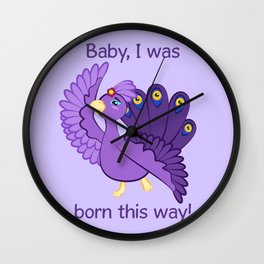 Commisions | Fancy peacock Wall Clock