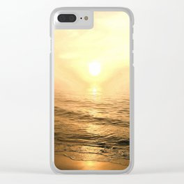 Gold Dawn Clear iPhone Case