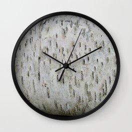 Birch Bark on a Fallen Tree Wall Clock
