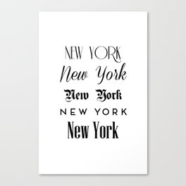 New York City Quote Sign, Digital Download, Calligraphy Text Art, World City Typography Print Canvas Print