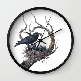American Crow Wall Clock