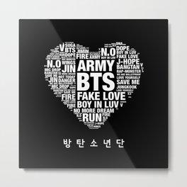BTS ARMY Fan Art : Typography Metal Print