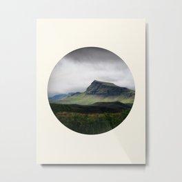 Cloudy Cliff Metal Print