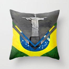 Flags - Brazil Throw Pillow