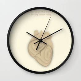 Literary Quote Poster — A quote from David Foster Wallace Wall Clock