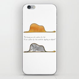 The Little Prince, a hat or a boa constrictor? iPhone Skin