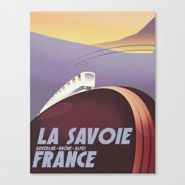 Savoy France train poster Canvas Print