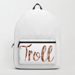 Rose gold troll Backpack