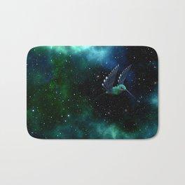 Space Hummingbird Bath Mat