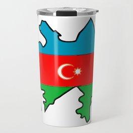 Azerbaijan Map with Azeri Azerbaijani Flag Travel Mug