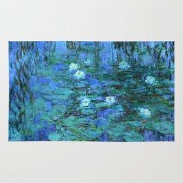 Claude Monet Water Lilies BLUE Rug