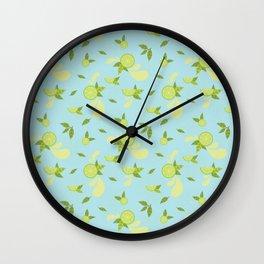 Lime Slice Wall Clock