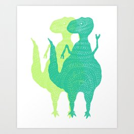 Just Rex - Funny Dinosaur Art Print