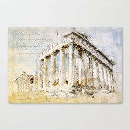 Acropolis, Athens Greece Canvas Print