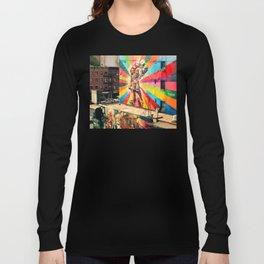 Street Art Mural, Times Square Kiss Recreation Long Sleeve T-shirt