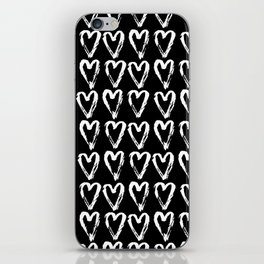 Black & White-Love Heart Pattern- Mix & Match with Simplicty of life iPhone Skin