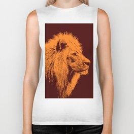 Lion, King of Nature Biker Tank