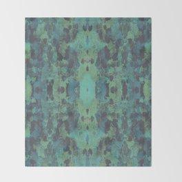 Sycamore Kaleidoscope - Graphite blue green Throw Blanket