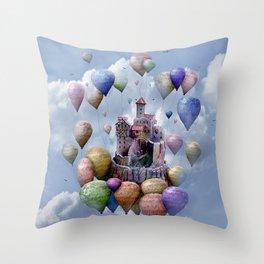 Sweet Castle Throw Pillow