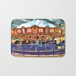 Carousel inside the Mall Bath Mat