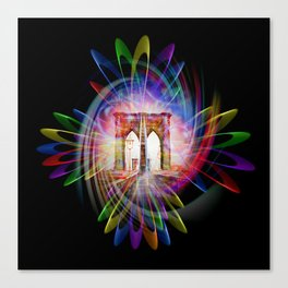 Abstract perfektion - Brooklyn Bridge Canvas Print